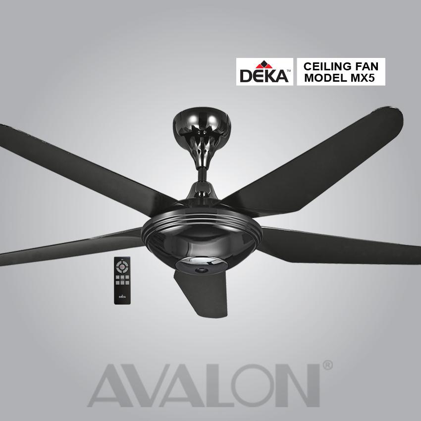 Avalon Deka Ceiling Fan Mx5 Bk 2pcs